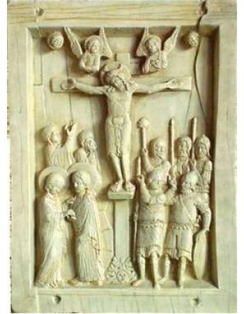 Byzantine Crucifixion Tablet Stone Relief Plaque Mythic Decor  Dragon Statues, Angels, Myths & Legend Statues & Home Decor
