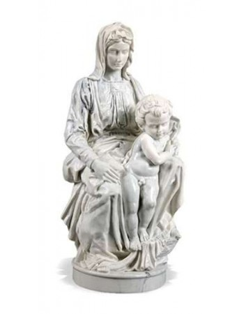 Madonna of Bruges by Michelangelo Museum Replica Statue Mythic Decor  Dragon Statues, Angels, Myths & Legend Statues & Home Decor