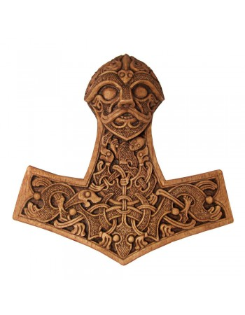 Hammer of Thor Wood Finish Plaque Mythic Decor  Dragon Statues, Angels, Myths & Legend Statues & Home Decor
