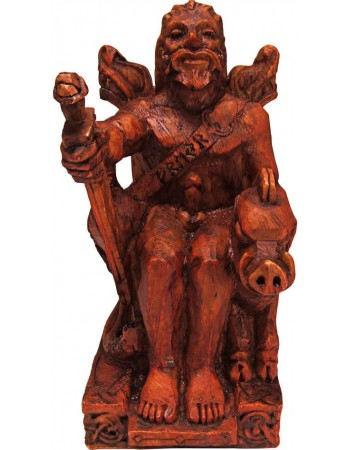 Freyr, Norse God of Fertility Seated Statue Mythic Decor  Dragon Statues, Angels, Myths & Legend Statues & Home Decor