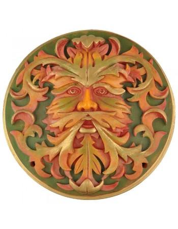 Green Man Autumn Plaque Mythic Decor  Dragon Statues, Angels, Myths & Legend Statues & Home Decor