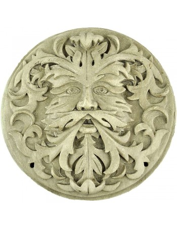 Green Man Winter White Plaque Mythic Decor  Dragon Statues, Angels, Myths & Legend Statues & Home Decor