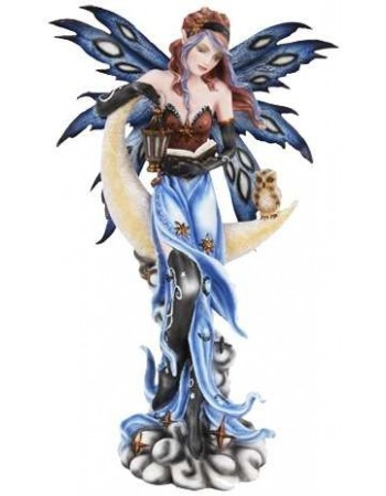 Crescent Moon Fairy Statue Mythic Decor  Dragon Statues, Angels, Myths & Legend Statues & Home Decor