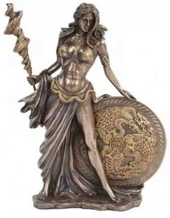 Frigga Norse Goddess Bronze Statue Mythic Decor  Dragon Statues, Angels, Myths & Legend Statues & Home Decor