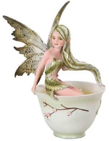 Green Tea Fairy Statue Mythic Decor  Dragon Statues, Angels, Myths & Legend Statues & Home Decor