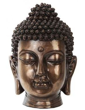 Buddha Head Small Bronze Bust Mythic Decor  Dragon Statues, Angels, Myths & Legend Statues & Home Decor