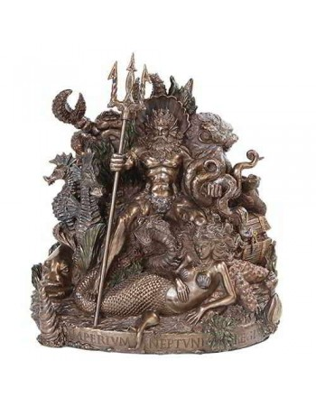 King Neptune Grotto Statue by Derek W Frost Mythic Decor  Dragon Statues, Angels, Myths & Legend Statues & Home Decor