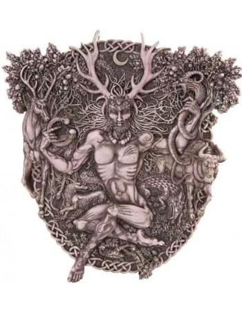 Cernunnos Horned God Celtic Wall Plaque Stone Finish Mythic Decor  Dragon Statues, Angels, Myths & Legend Statues & Home Decor