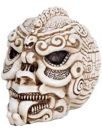 Aztec Bone Resin Design Skull Mythic Decor  Dragon Statues, Angels, Myths & Legend Statues & Home Decor
