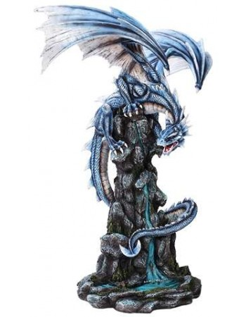Blue Winged Dragon Mountain Statue Mythic Decor  Dragon Statues, Angels, Myths & Legend Statues & Home Decor