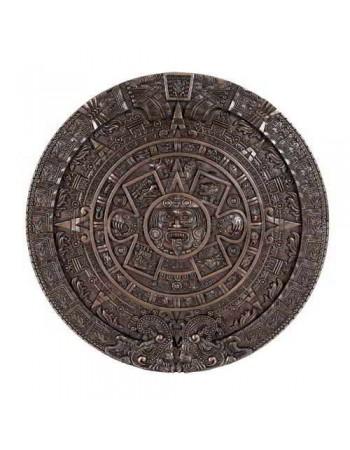 Aztec Solar Calendar Wall Relief Bronze Plaque Mythic Decor  Dragon Statues, Angels, Myths & Legend Statues & Home Decor