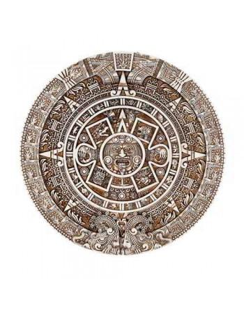 Aztec Solar Calendar Wall Relief Plaque Mythic Decor  Dragon Statues, Angels, Myths & Legend Statues & Home Decor