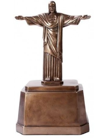Christ the Redeemer Bronze Memorial Urn Mythic Decor  Dragon Statues, Angels, Myths & Legend Statues & Home Decor