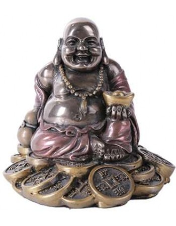 Good Fortune Buddha Bronze Resin Statue Mythic Decor  Dragon Statues, Angels, Myths & Legend Statues & Home Decor
