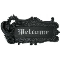 Dragon Welcome Sign Wall Plaque
