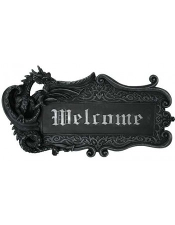 Dragon Welcome Sign Wall Plaque Mythic Decor  Dragon Statues, Angels, Myths & Legend Statues & Home Decor