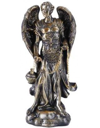 Archangel Saeltiel Small Bronze Christian Statue Mythic Decor  Dragon Statues, Angels, Myths & Legend Statues & Home Decor