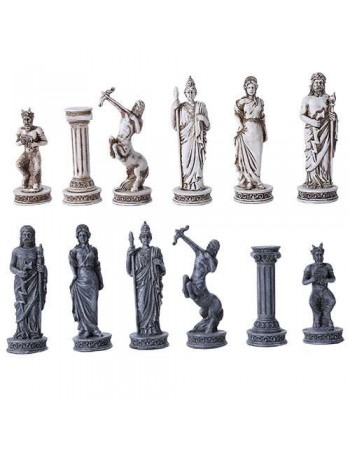 Greek Mythology Gods Chess Set with Glass Board Mythic Decor  Dragon Statues, Angels, Myths & Legend Statues & Home Decor
