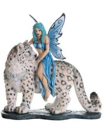 Hima Fairy Snow Leopard Companion Statue Mythic Decor  Dragon Statues, Angels, Myths & Legend Statues & Home Decor