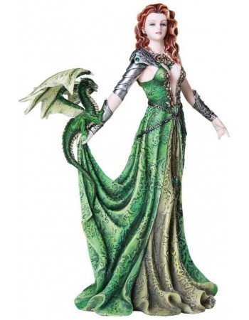 Astranaithes Warrior Woman with Dragon Statue Mythic Decor  Dragon Statues, Angels, Myths & Legend Statues & Home Decor