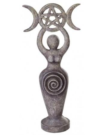 Spiral Goddess Triple Moon Altar Statue Mythic Decor  Dragon Statues, Angels, Myths & Legend Statues & Home Decor