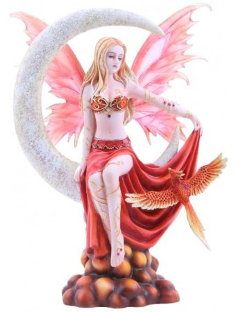 Fire Moon Fairy Statue Mythic Decor  Dragon Statues, Angels, Myths & Legend Statues & Home Decor