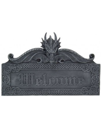 Dragon Welcome Wall Sign Mythic Decor  Dragon Statues, Angels, Myths & Legend Statues & Home Decor