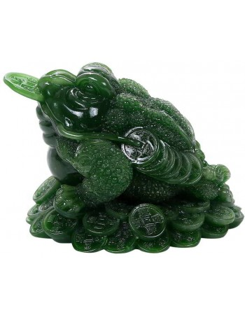 Lucky Frog Jade Green Feng Shui Money Statue Mythic Decor  Dragon Statues, Angels, Myths & Legend Statues & Home Decor