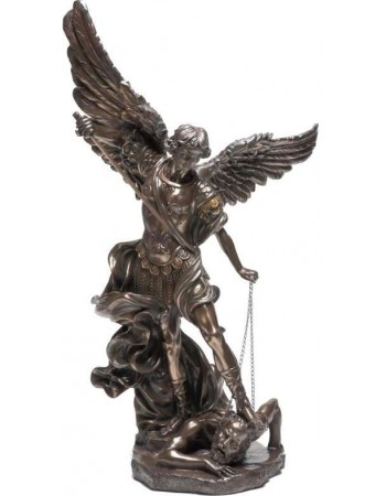 Archangel St Michael 47 Inch Bronze Resin Statue Mythic Decor  Dragon Statues, Angels, Myths & Legend Statues & Home Decor