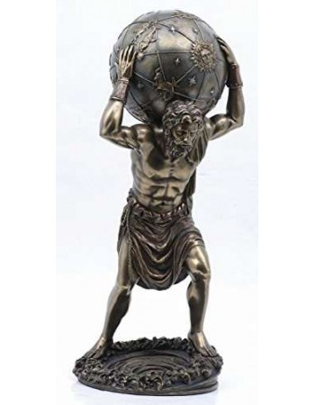 Atlas Holding the World Mythic Decor  Dragon Statues, Angels, Myths & Legend Statues & Home Decor
