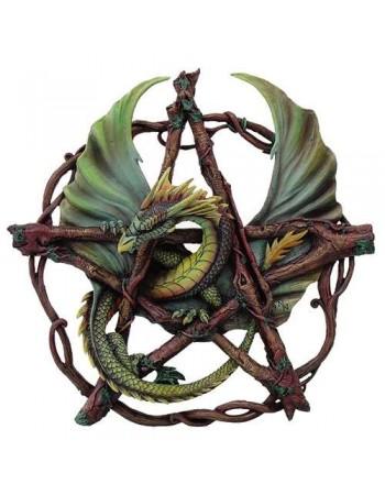 Forest Pentagram Dragon Plaque Mythic Decor  Dragon Statues, Angels, Myths & Legend Statues & Home Decor