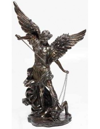 Archangel St Michael 32 Inch Bronze Resin Statue Mythic Decor  Dragon Statues, Angels, Myths & Legend Statues & Home Decor