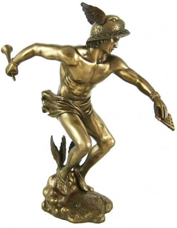 Hermes Greek God of Commerce, Communications and Wealth Mythic Decor  Dragon Statues, Angels, Myths & Legend Statues & Home Decor