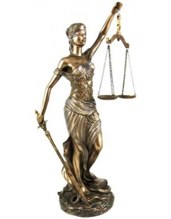 La Justica 12 Inch Lady Justice Statue in Bronze Resin Mythic Decor  Dragon Statues, Angels, Myths & Legend Statues & Home Decor