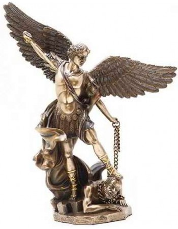 Archangel St Michael 10 Inch Bronze and Gold Statue Mythic Decor  Dragon Statues, Angels, Myths & Legend Statues & Home Decor