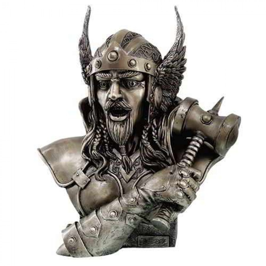thor norse god of thunder bronze resin bust by monte moore
