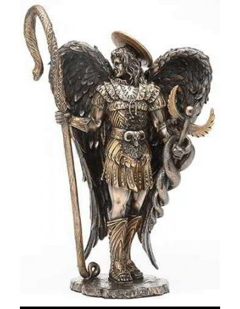 Archangel Raphael Healing Bronze Resin Statue Mythic Decor  Dragon Statues, Angels, Myths & Legend Statues & Home Decor