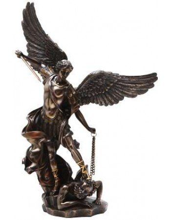 Archangel St Michael Slaying Evil 15 Inch Bronze Statue Mythic Decor  Dragon Statues, Angels, Myths & Legend Statues & Home Decor