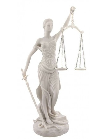 Lady Justice White Marble 10 Inch Statue Mythic Decor  Dragon Statues, Angels, Myths & Legend Statues & Home Decor