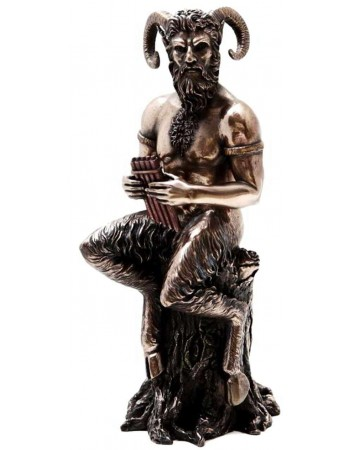 Pan Greek God of Nature Horned God Statue Mythic Decor  Dragon Statues, Angels, Myths & Legend Statues & Home Decor