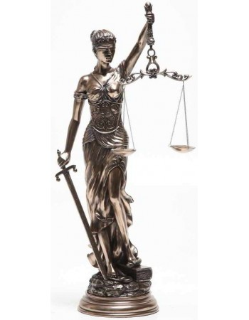 Lady Justice 31 Inch Statue in Bronze Resin Mythic Decor  Dragon Statues, Angels, Myths & Legend Statues & Home Decor