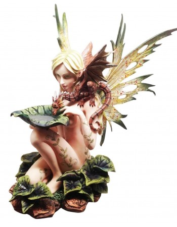 Forest Fairy with Baby Dragon Statue Mythic Decor  Dragon Statues, Angels, Myths & Legend Statues & Home Decor