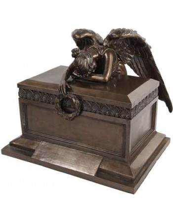 Angel of Bereavement Bronze Memorial Urn Mythic Decor  Dragon Statues, Angels, Myths & Legend Statues & Home Decor