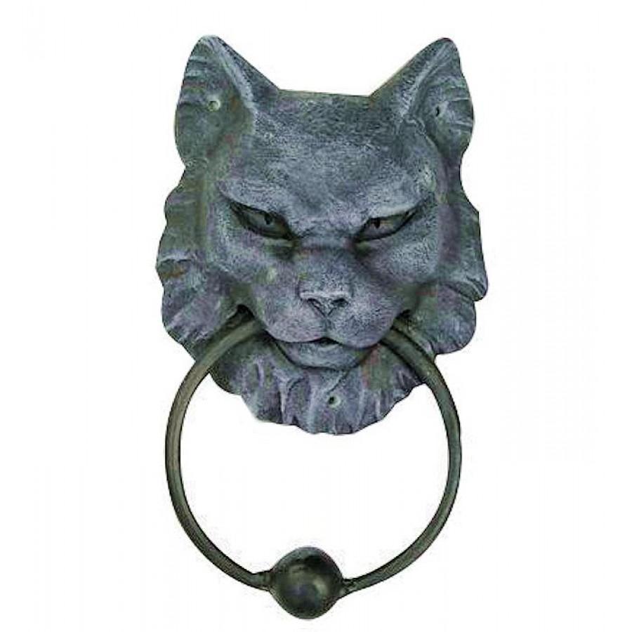 Gargoyle Cat Door Knocker At Mythic Decor Dragon Statues Angels Demons Myths