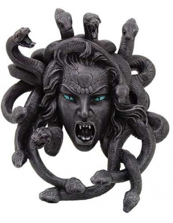 Medusa Head Greek Gorgon Plaque Mythic Decor  Dragon Statues, Angels, Myths & Legend Statues & Home Decor