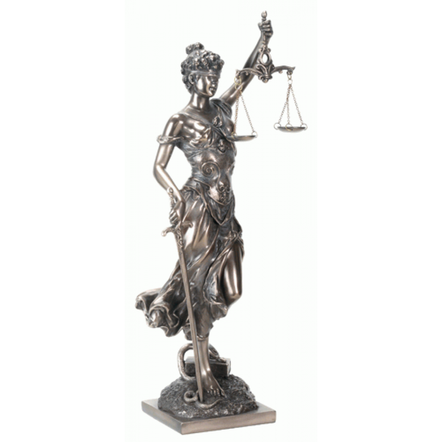lady justice with scales bronze statue 14 inches