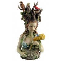 Gaia - Greek Primordial Goddess of Earth Color Statue