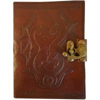 Double Dragon Leather Journal with Latch
