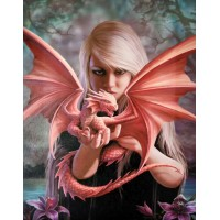 Dragon Kin Canvas Print by Anne Stokes