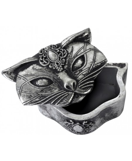 Sacred Cat Trinket Box at Mythic Decor,  Dragon Statues, Angels & Demons, Myths & Legends |Statues & Home Decor